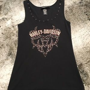 Ladies Harley Davidson embroidered tank size L